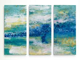 sea isle acrylic painting print multi piece image on gallery wrapped canvas