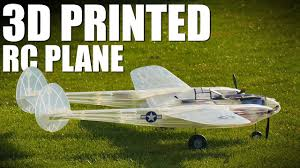 3d paper model airplanes print outs 3d printed airplane p 38 lightning flite test youtube