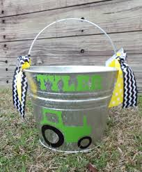 easter pails personalized easter easter pail tractor easter basket