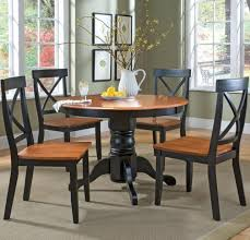Traditional Country Kitchen Dining Table Sets With Black Frame - Country kitchen tables and chairs