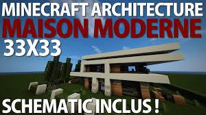 Maison Modern Minecraft by Minecraft 33x33 Maison Moderne Schematic Inclus Fr Youtube