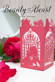 beauty beast paper lantern designs mandee