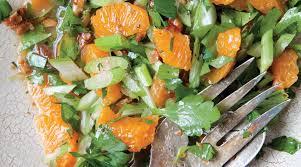 tangerine fennel salad with bitter celery vinaigrette the