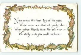 10638 f a owen thanksgiving day greeting message poem verse corn