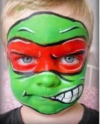 Blue Ninja Turtle Halloween Costume Ninja Turtle Face Painting Kids Google U2026 Pinteres U2026