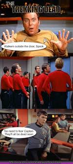 Red Shirt Star Trek Meme - red shirts the walking dead of star trek by darkspiritborameer