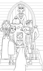 total drama island coloring pages tdi addams family lines