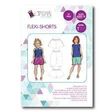 paper bag toddler shorts pattern flexi shorts sewing pattern tadah patterns sewing