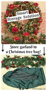 Decorated Christmas Tree Bag Storage by Store Garland In A Christmas Tree Bag