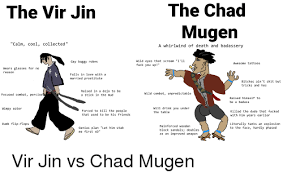 calm cool collected the chad mugen the vir jin calm cool collected a whirlwind of death