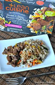 singer cuisine lean cuisine marketplace and spicy style beef opera