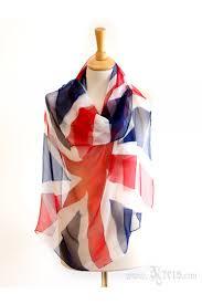 English Flag Flag Scarf Chiffon Silk Scarf