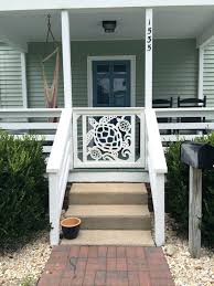porch banister front door metal railings ideas home entrancing hallway for your