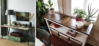 Upcycled Console Table 26 Ideas For Upcyling Old Doors In Rentals Bnbstaging Le Blog