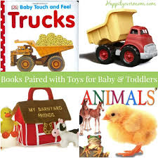 1 year gifts books paired with toys happily