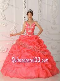 coral pink quinceanera dresses beaded and ruched coral dress for a quinceanera with ruffles