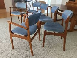 Danish Teak Armchair 6 Danish Mid Century Modern Teak Dining Chairs 2 Chairs Are