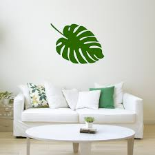 monstera leaf etsy monstera leaf wall decal stickers flora decals plant life nature