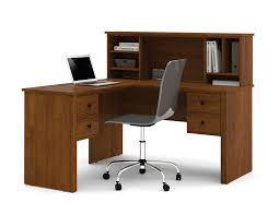 Metal Computer Desk With Hutch by Amazon Com Bestar Somerville L Shaped Desk With Hutch In Tuscany