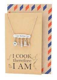 cooking gifts for mom skylar gifts for mom dad chef personalized cooking jewelry charm