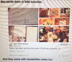 gifts for taylor swift fans fans check your mailbox for a surprise xmas gift from taylor swift