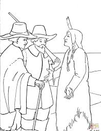 coloring sheets for thanksgiving free download coloring pages pilgrims and indians coloring pages