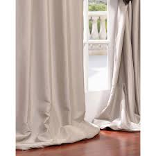 White Silk Curtains Antique Beige 108 X 50 Inch Grommet Blackout Faux Silk Taffeta