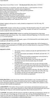 Music Resume Sample by Sample Lesson Plan 2 Edi 16a Curriculum And Assessment