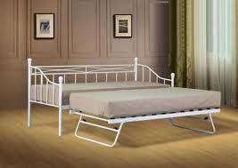 white or black paris metal daybed guest bed with trundle mattress