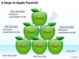1813 business ppt diagram 6 steps in apple pyramid powerpoint