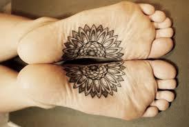 foot tattoos for girls mandala foot tattoo design