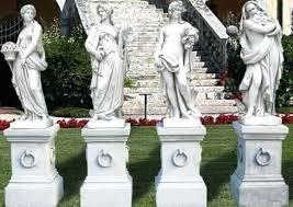 large concrete garden statues exhort me