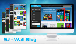 template joomla k2 preview sj wall blog joomla template with k2 component