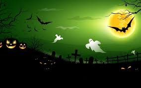 halloween background elegant halloween funny ghosts creepy house bats boo full moon art vector