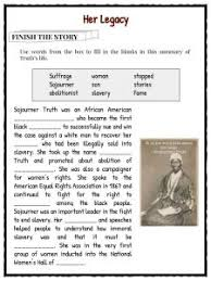 sojourner truth facts worksheets history of slavery for kids