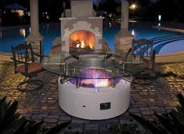 Glass Fire Pits by Modern Fire Pit Table With Glass Top Cal Flame Fpt G2500 On Sale Now