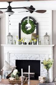 Fireplace Mantel Decoration by A Few Key Pieces Like The Glass Jars And Driftwood Decor From