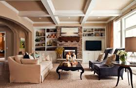 Impressive  Living Room Ideas With Brick Fireplace Design - Living rooms with fireplaces design ideas