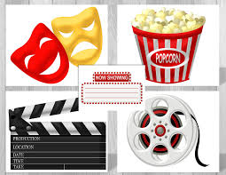 printable hollywood movie party supplies movie theme party