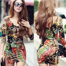 sell new plus size dress print floral mini bodycon long
