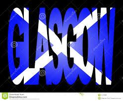 glasgow with scottish flag royalty free stock photos image 4178588