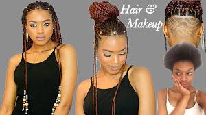 fulani braids u0026 beads undercut transformation crochet method