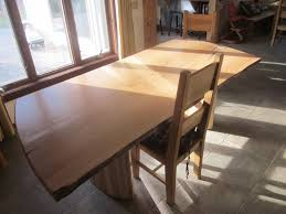 Slab Dining Room Table by Custom Made Live Edge Slab Dining Table With Curved Maple Base By
