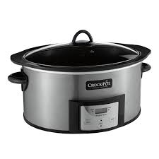 crock pot 6 quart slow cooker with stovetop safe cooking pot