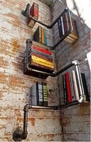 Black Pipe Bookshelf Industrial Urban Style Galvanised Steel Pipe Shelf Storage