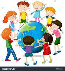 happy children around world illustration stock vector 631578152