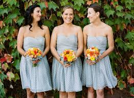 blue gray bridesmaid dresses unique bridesmaid dresses in stripe and polka dot prints wedding