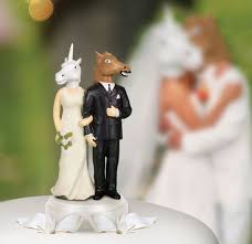 nerdy cake toppers animalistic cake toppers unicorn and wedding cake topper