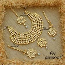 fashion necklace set images Best price of gehnoor high quality artificial royal kundan pearl jpg