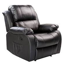 Recliner Sofas Merax Pu Heated Recliner Sofa Chair Ergonomic